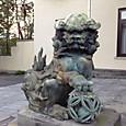 庭園美術館の狛犬さん